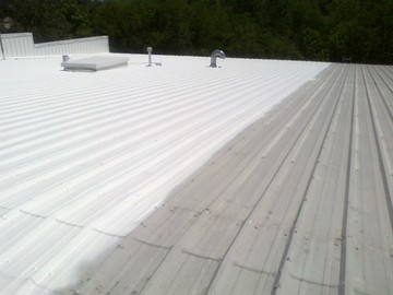 Roof Coating of a Commercial Roof