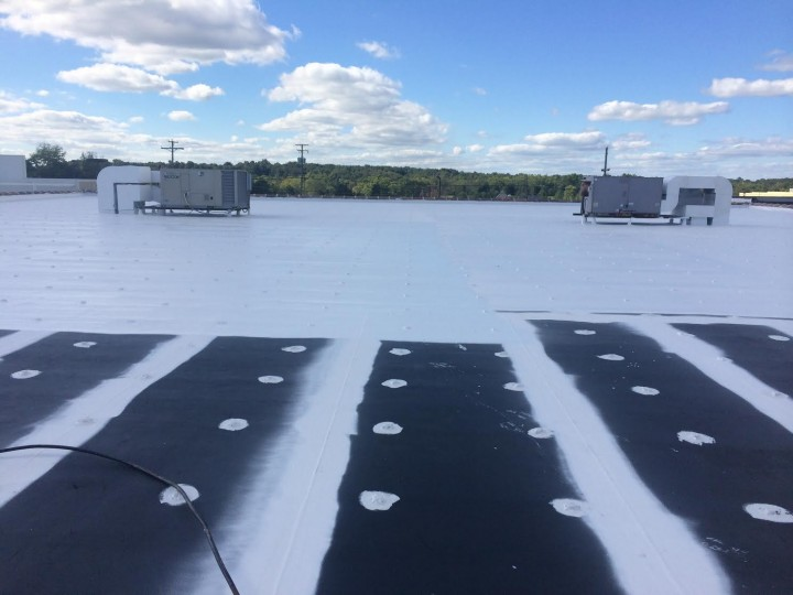 During Commercial Roofing at West Union Town and Country, OH