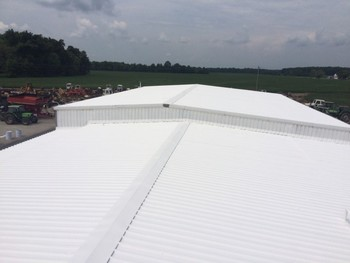 Before and After Commercial roofing services Littles Farm Supply in Lynchburg Ohio